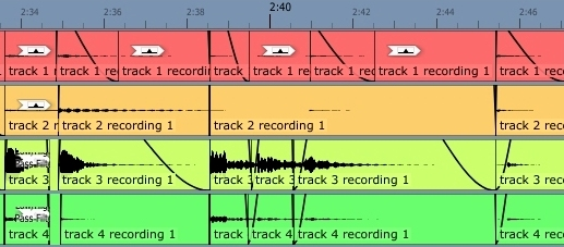 editing with tracktion
